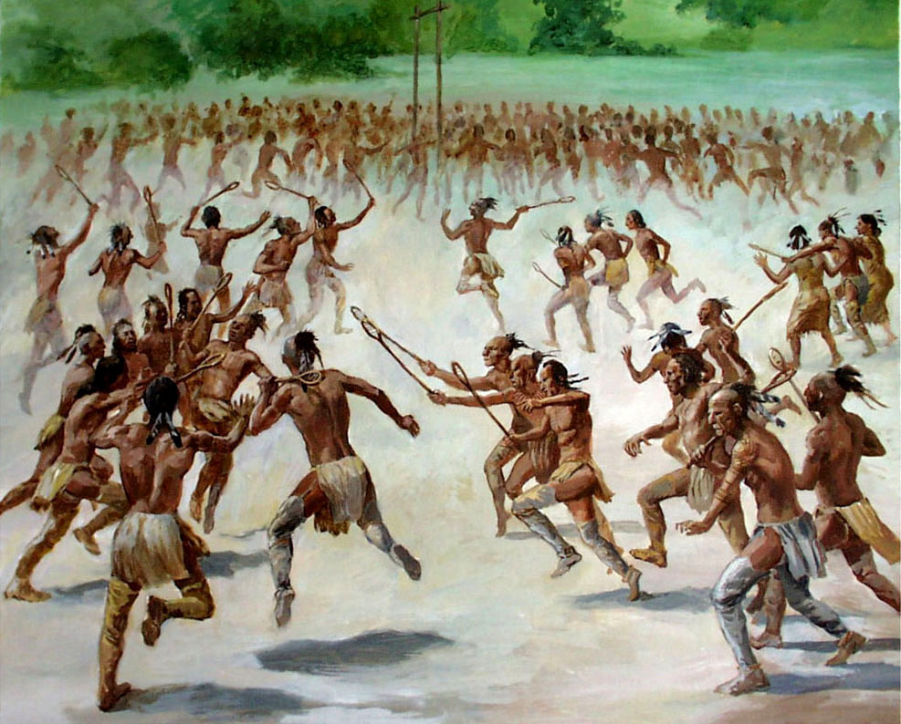an introduction to the game of lacrosse one of stickball games played by american indians Sit back and enjoy the game remember, lacrosse is played lacrosse was one of many varieties of indigenous stickball games being played by american indians at.