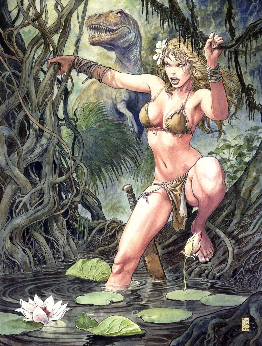 Blonde savage girl in jungle porno erotica pictures